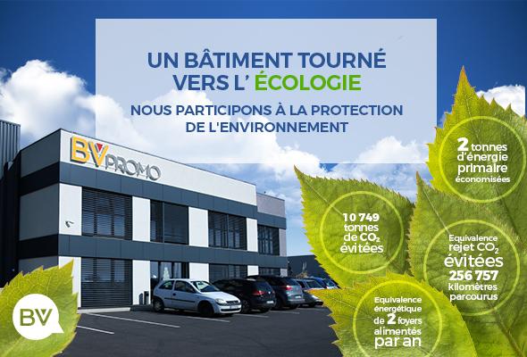 Nos locaux ? Un bâtiment passif à consommation écologique !