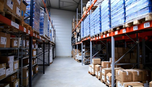One thousand square-meters of warehouse storage