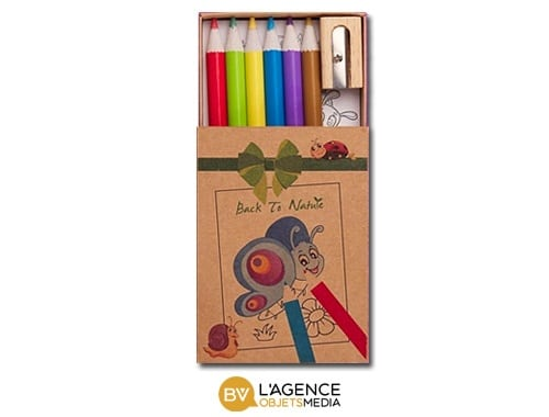 Pochette crayons de couleurs personnalisée