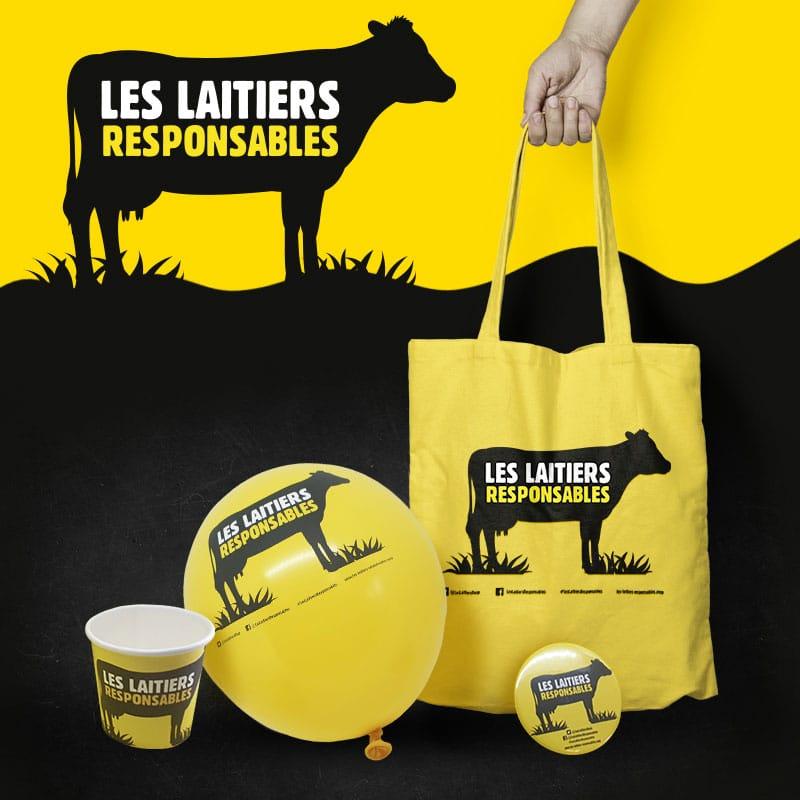 Objets personnalisés Les Laitiers responsables