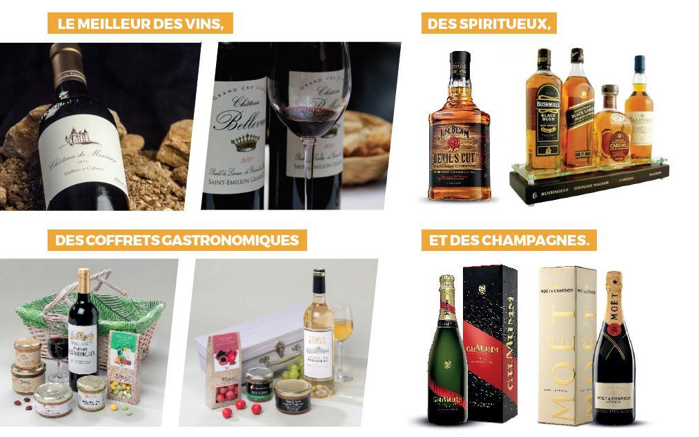 Cadeaux entreprise vins et spiritueux