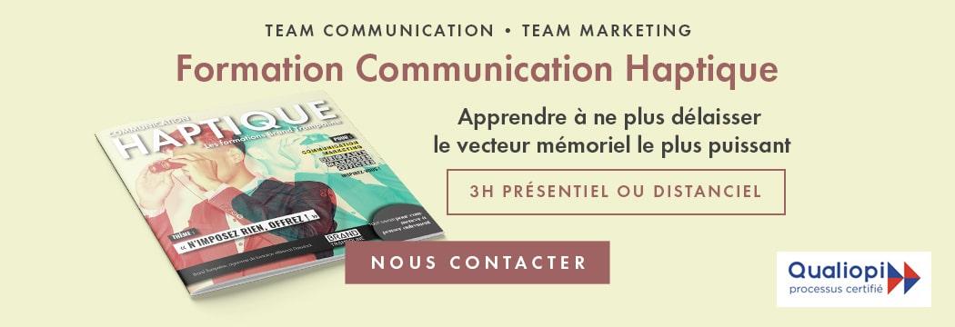 Formation communication haptique